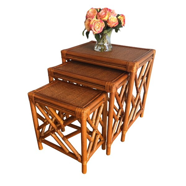 Colusa Rattan 3 Piece Nesting Tables by Bay Isle H