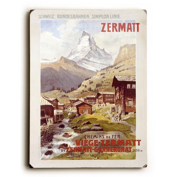 Swiss Alps Zermatt Matterhorn Vintage Advertisement by Artehouse LLC