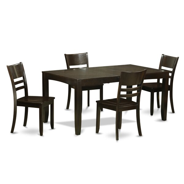 Lockmoor 5 Piece Dining Set by Red Barrel Studio