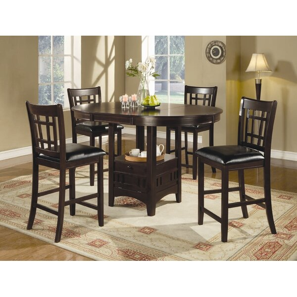Norwalk Counter Height Extendable Solid Wood Dining Table by Alcott Hill