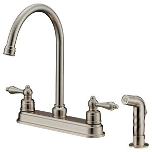 LessCare Double Handle Pull-Down Kitchen Faucet with Water Sprayer