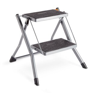 Peachy 2 Step Steel Step Stool With 330 Lb Load Capacity Ibusinesslaw Wood Chair Design Ideas Ibusinesslaworg