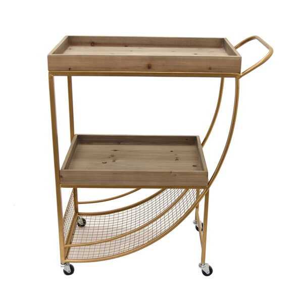 Wealdstone Wood/Metal Bar Cart by Gracie Oaks