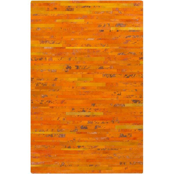 Denver Tangerine Area Rug by Ivy Bronx