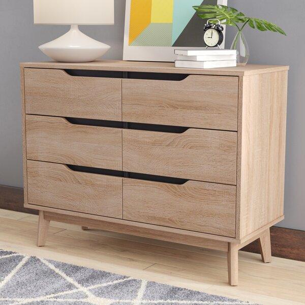 Ezra Modern 6 Drawer Standard Dresser/Chest by Langley Street