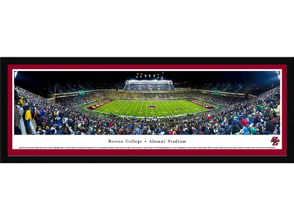 NCAA Boston College - Football by Christopher Gjevre Framed Photographic Print by Blakeway Worldwide Panoramas, Inc