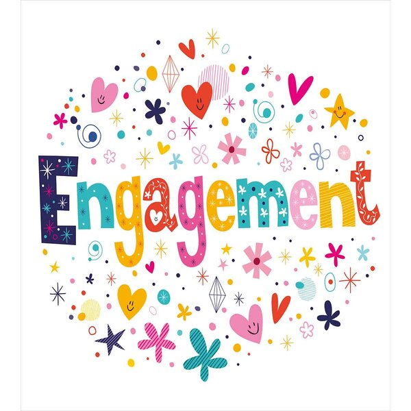 Engagement Party Decorations Duvet Set by Ambesonne