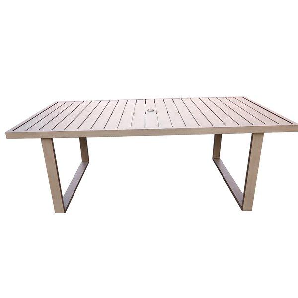Otega Aluminum Dining Table by Orren Ellis