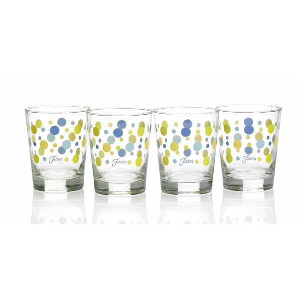 Dot 15 Oz. Double Old Fashioned Glass (Set of 4) by Fiesta