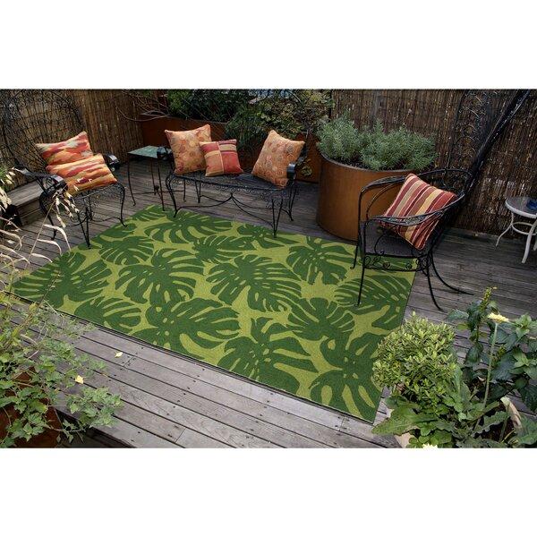 Rachael Hand-Tufted Green Indoor/Outdoor Area Rug by Beachcrest Home