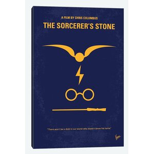 'Harry Potter and the Sorcerer's Stone II Minimal Movie Poster Vintage Advertisement on Wrapped Canvas by East Urban Home