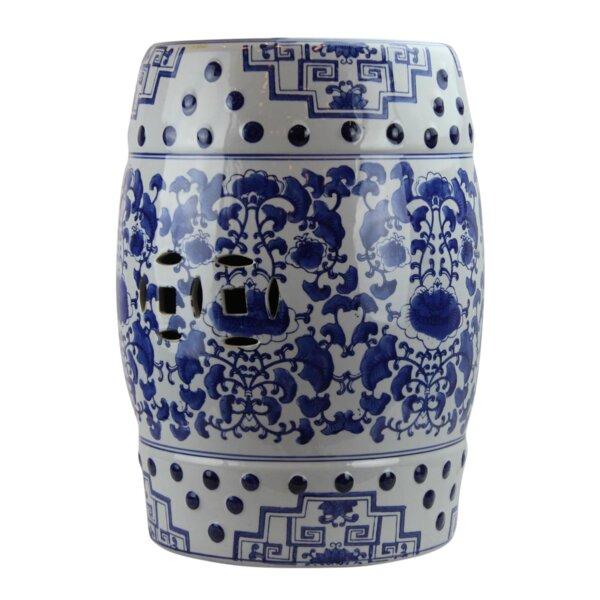 Mancilla Modern Contemporary Floral Porcelain Garden Stool