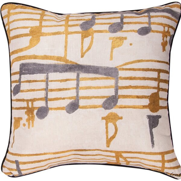 Music Stanzas I Throw Pillow by Manual Woodworkers & Weavers