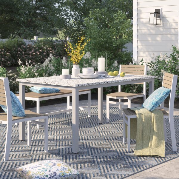 Caspian Aluminum Dining Table by Sol 72 Outdoor