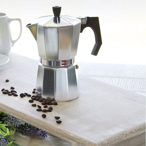 Kenia Aluminum 9 Cups Coffee Maker by Magefesa