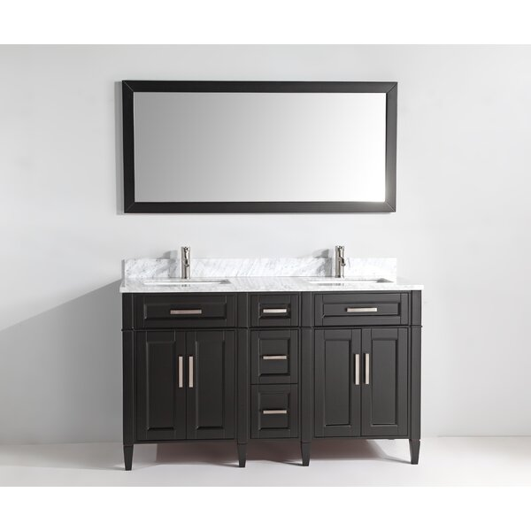 Monadnock 60 Double Bathroom Vanity Set with Mirror by Gracie Oaks