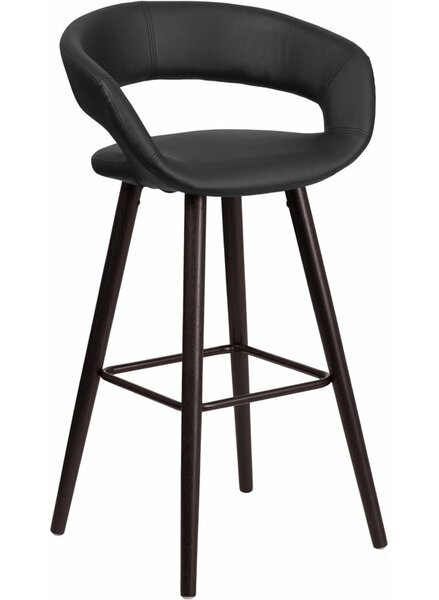 Whelan Rounded Low Back Swivel Bar Stool by Orren Ellis