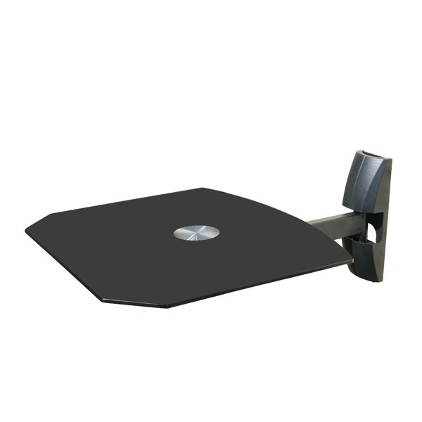 Single Wall Mount Shelf for DVD VCR Cable Box, PS3