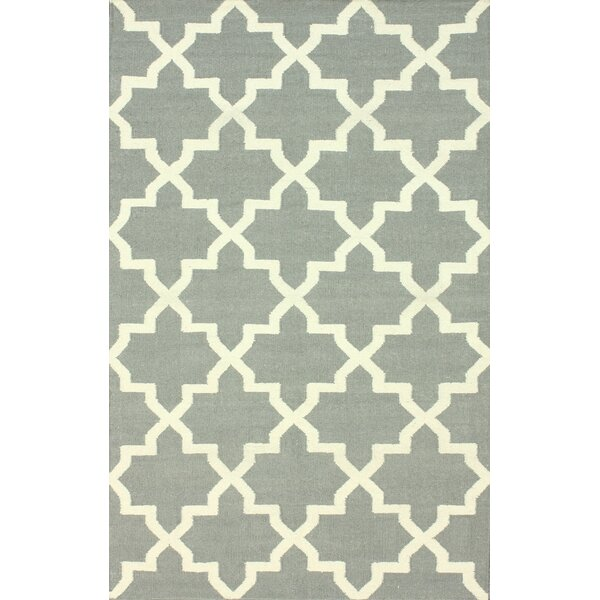 Moderna Hand-Woven Wool Gray Area Rug by nuLOOM