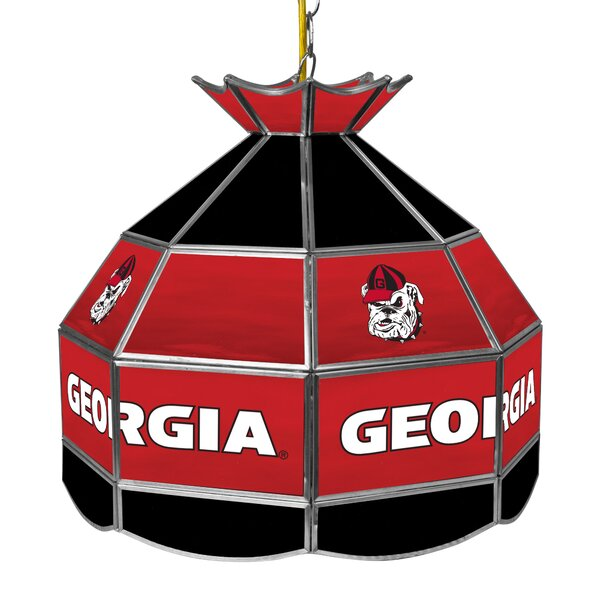 University of Georgia Stained Glass 1-Light Pool Table Lights Pendant by Trademark Global