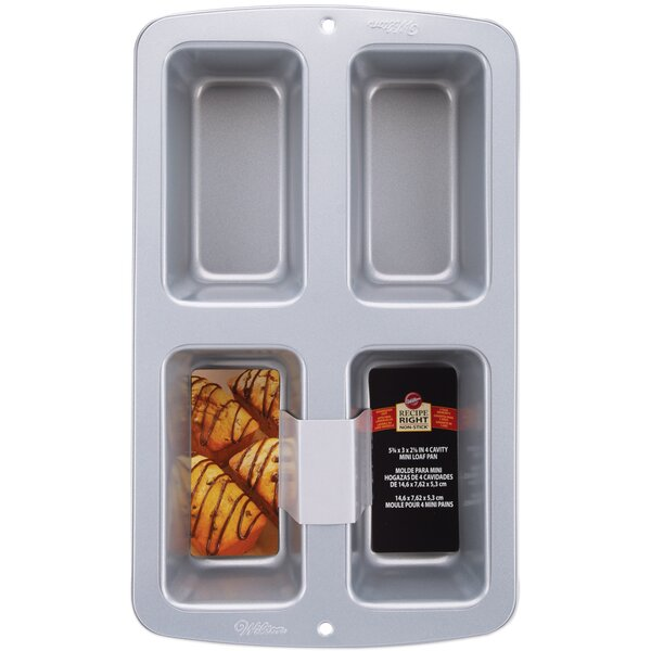 Non Stick 4 Cavity Loaf Pan By Wilton.