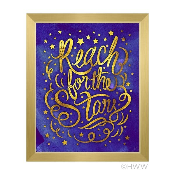 Reach For the Stars Framed Textual Art by Click Wall Art