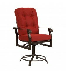 Cortland Swivel 25.5 Patio Bar Stool by Woodard