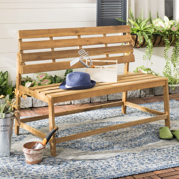 Gere Balcony Wooden Convertible Bench by Highland Dunes Highland Dunes