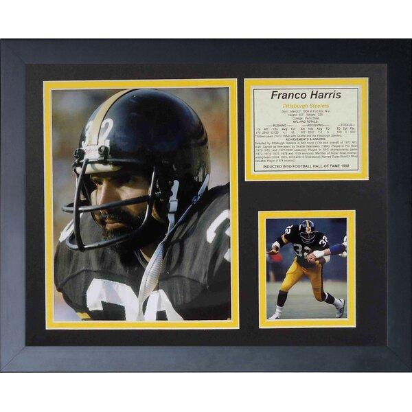Franco Harris Framed Memorabilia by Legends Never Die
