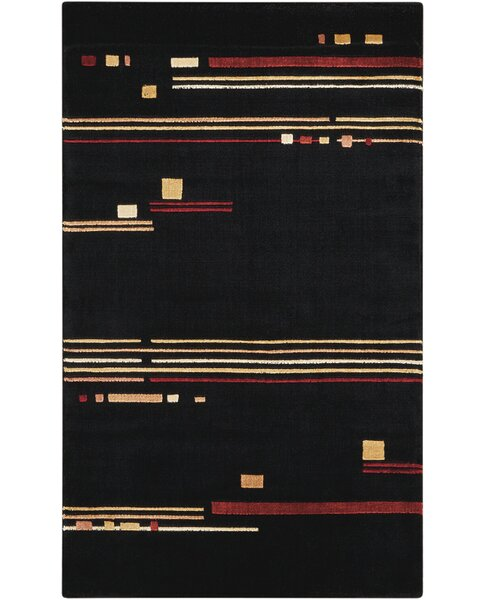 Annelise Black Area Rug by Orren Ellis