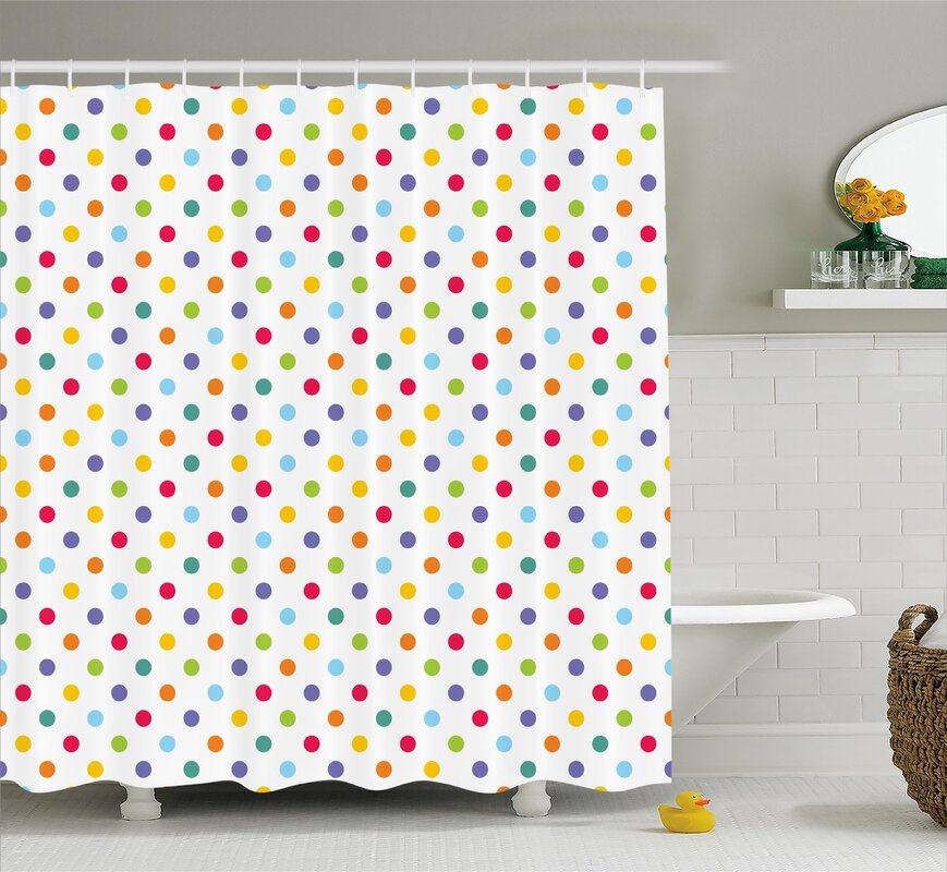 Viv + Rae Bradford Colorful Polka Dots Shower Curtain & Reviews ...