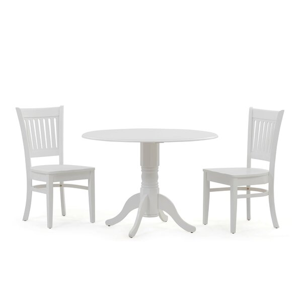 Thornhill 3 Piece Drop Leaf Solid Wood Dining Set by Alcott Hill