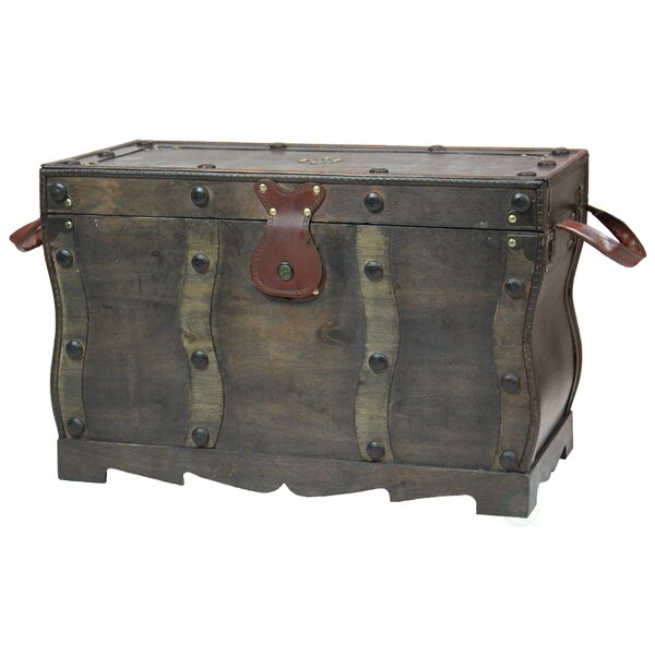 Bloomsbury Market Flynn Antique Style Distressed Wooden Pirate Treasure  Chest, Coffee Table Trunk | Wayfair