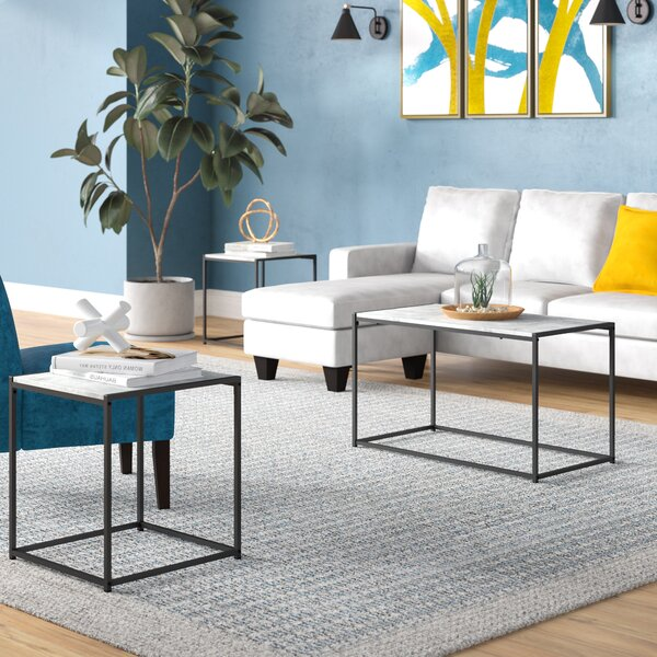 Outdoor Furniture Andresen 3 Piece Coffee Table Set
