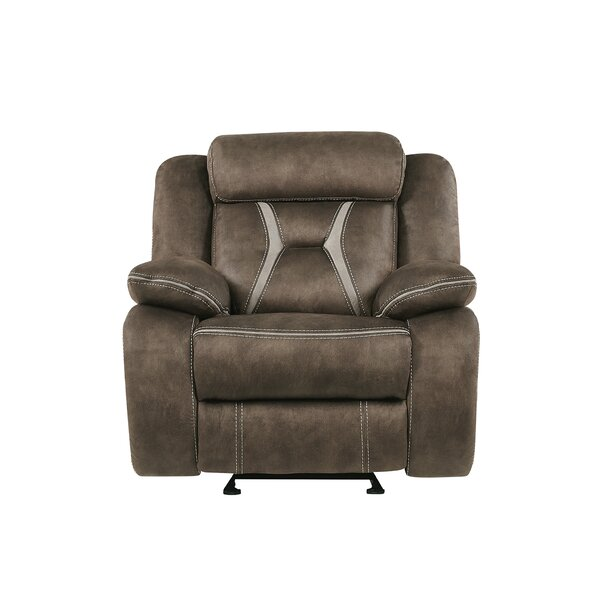 Jorman Stitched Fabric Manual Glider Recliner [Red Barrel Studio]