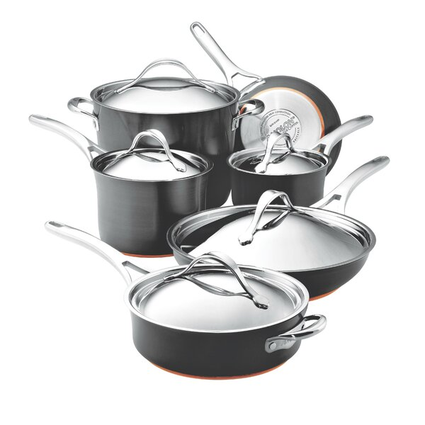 Nouvelle 11 Piece Non-Stick Stainless Steel Cookware Set by Anolon