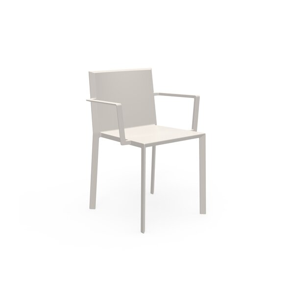 Quatz Stacking Patio Dining Chair (Set of 4) by Vondom