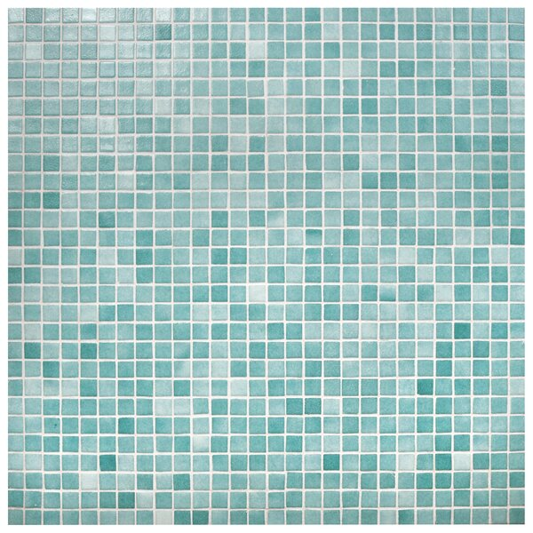 Colgadilla Square 0.88 x 0.88 Glass Mosaic Tile in Niebla Azul by EliteTile