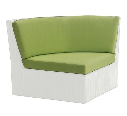 Mobilis Corner Patio Chair with Cushions by Tropitone