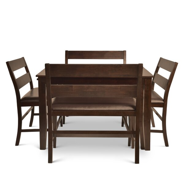 Wynwood Counter Height Dining Set with 4 Benches by Alcott Hill