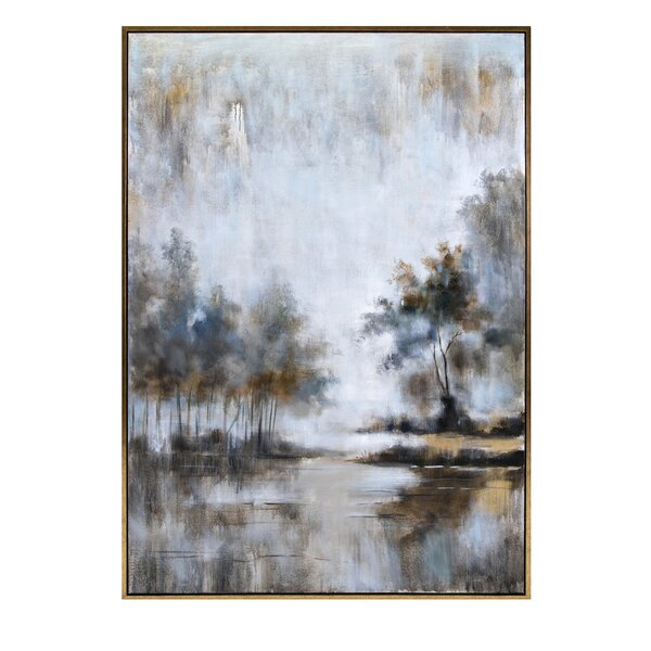 Neutral Framed Oil Painting Print On Wrapped Canvas By Canora Grey.