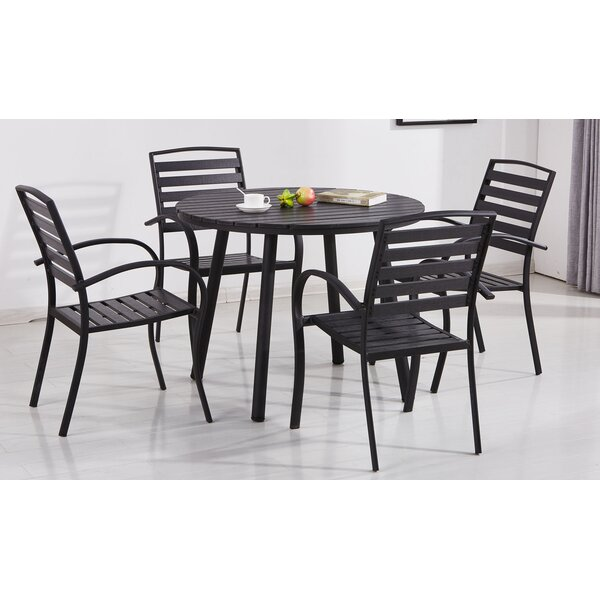 Gallien Modern Contemporary 5 Piece Dining Set by Wrought Studio