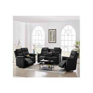 Doree 3 Piece Faux Leather Living Room Set by Latitude Run®