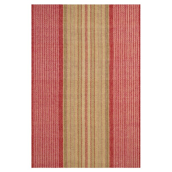Hand Woven Cotton Red Area Rug by Dash and Albert Rugs