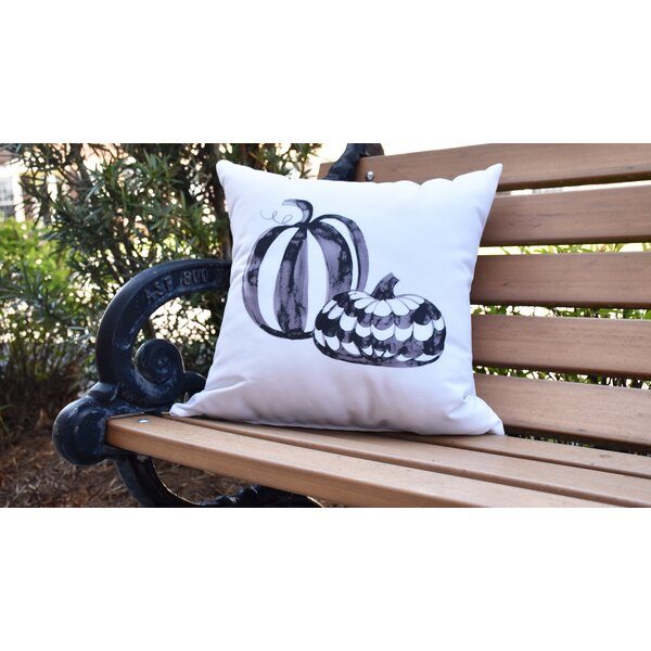 Maser Pumpkin Duo Halloween Outdoor Throw Pillow by The Holiday Aisle