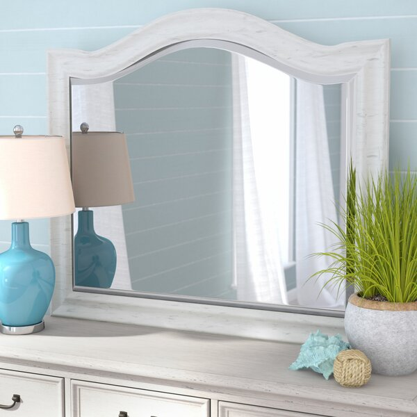 Trenton Arched Wood Framed Dresser Mirror by Rosecliff Heights