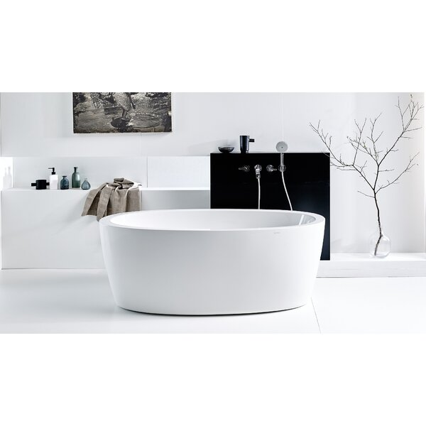 Purescape 63 x 30 Freestanding Soaking Bathtub by Aquatica