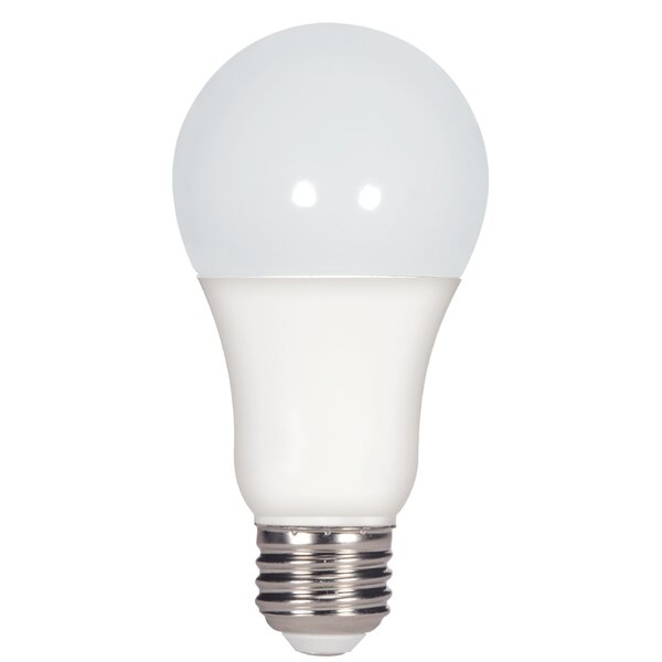 Frosted E26 Medium Standard LED Light Bulb (Set of 4) by Satco
