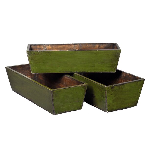 Pine Planter Box Set (Set of 3) by Antique Revival