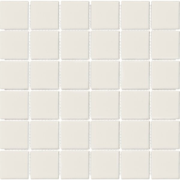 Sail 2 x 2 Ceramic/Porcelain Mosaic Tile in Biscotti by Parvatile